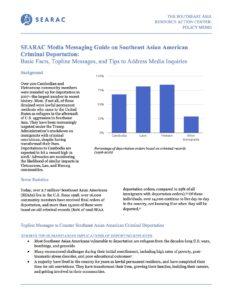 SEARAC Media Messaging Guide on Southeast Asian American Criminal Deportation