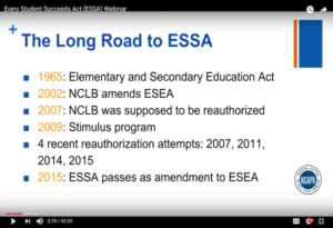 Every Student Succeeds Act (ESSA) Webinar