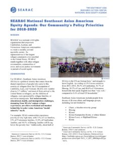 SEARAC Launches National Policy Priorities for Southeast Asian American Equity