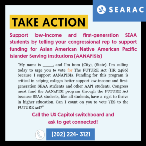 Tell Your House Rep to Support AANAPISI Funding
