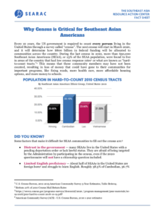 SEARAC Launches Census Factsheets for the Southeast Asian American Community
