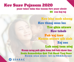 SEARAC Census Factsheets Available in Hmong