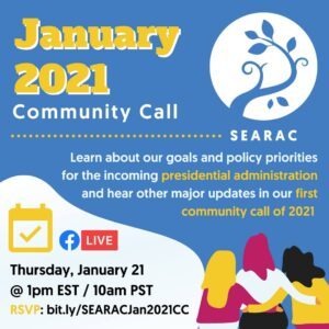January 2021 Community Call: Priorities for the new administration