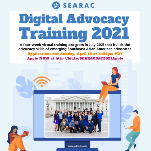 SEARAC Digital Advocacy Training 2021 Applications Are Open!